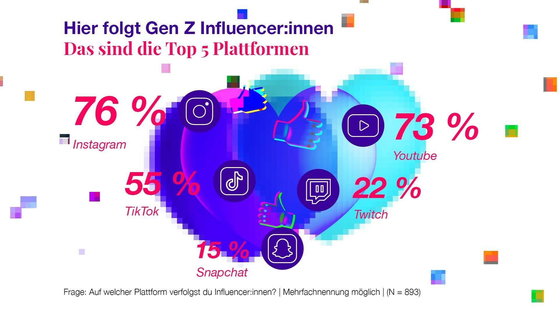 Top 5 Plattformen Social Media