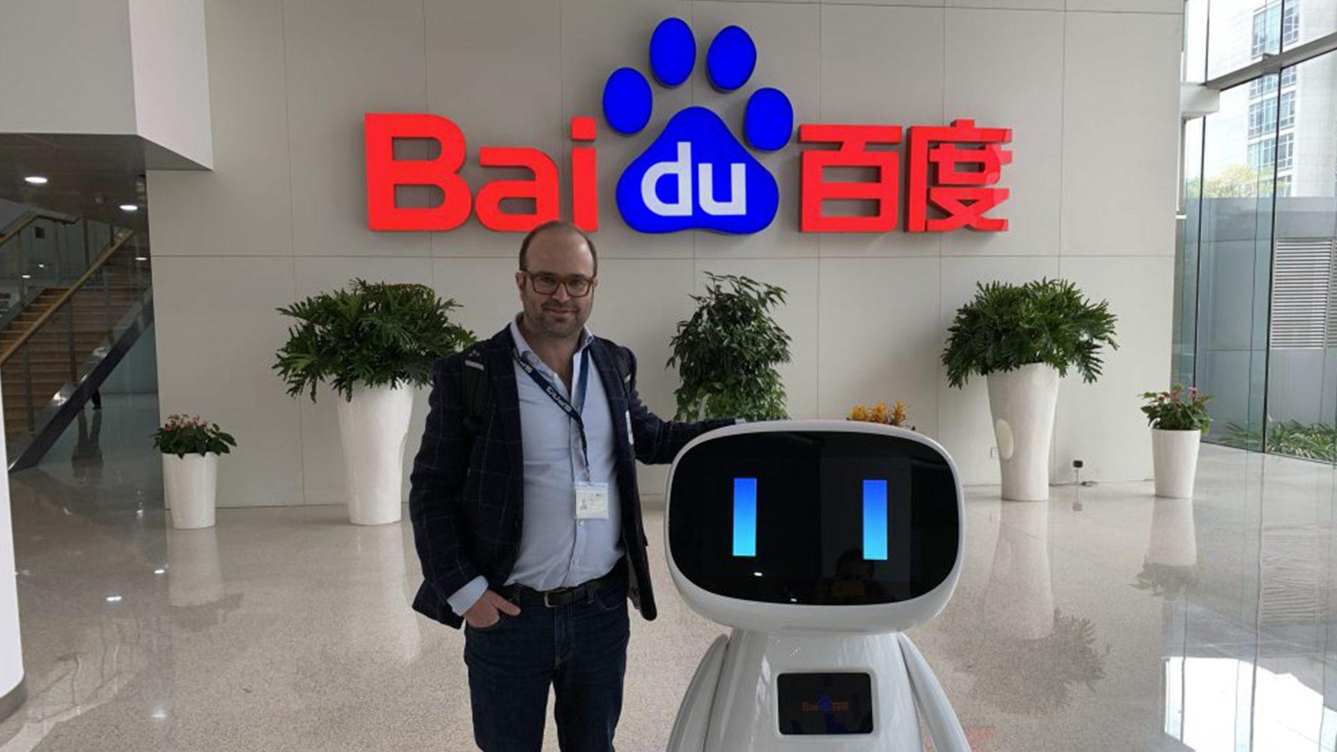 China Advertising baidu roboter
