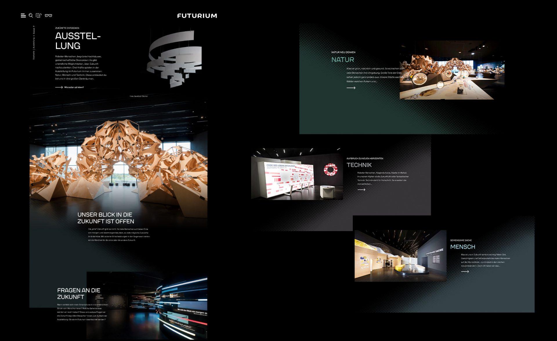 Futurium Ausstellungsseite