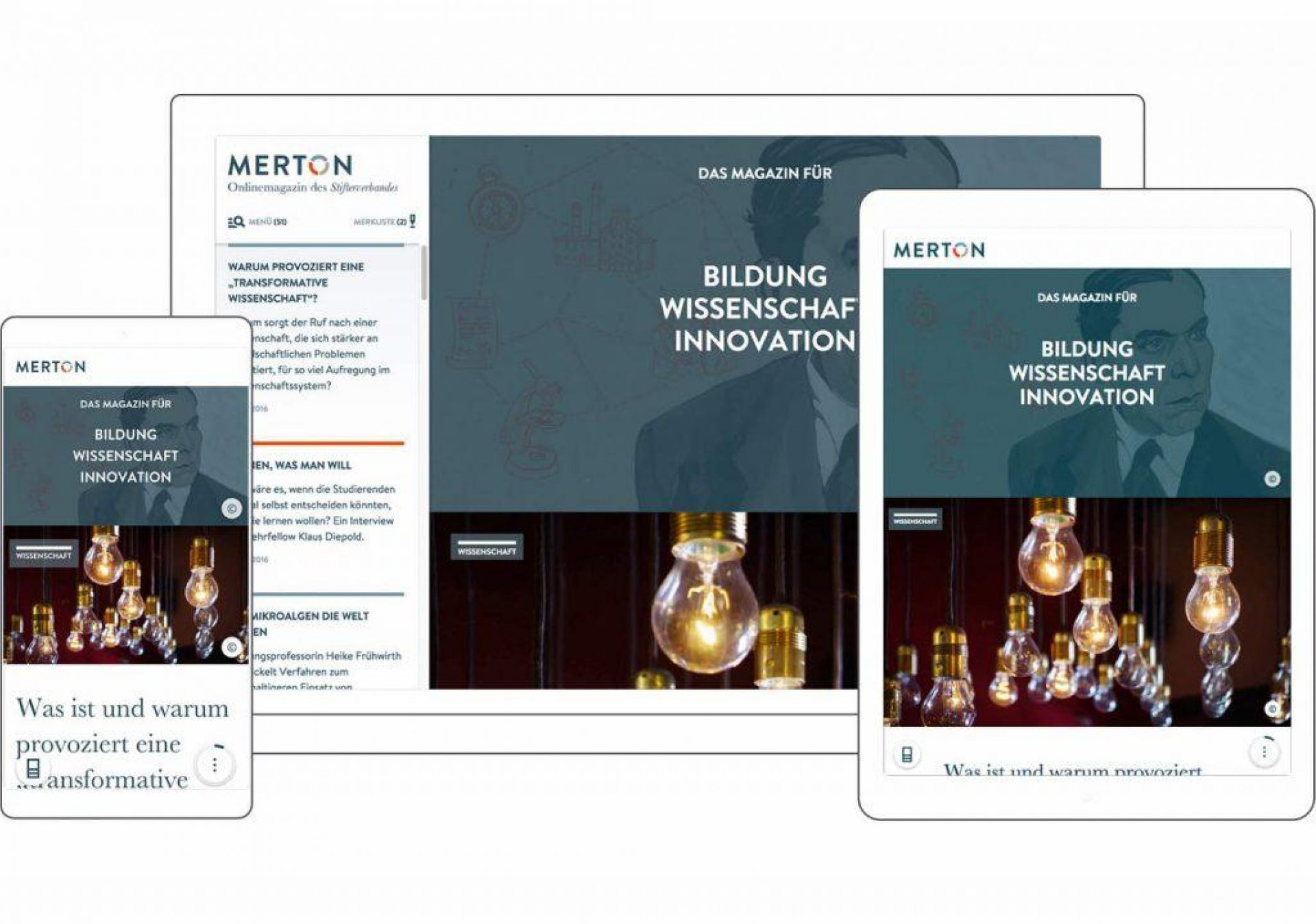 Onlinemagazin MERTON Devices WEB