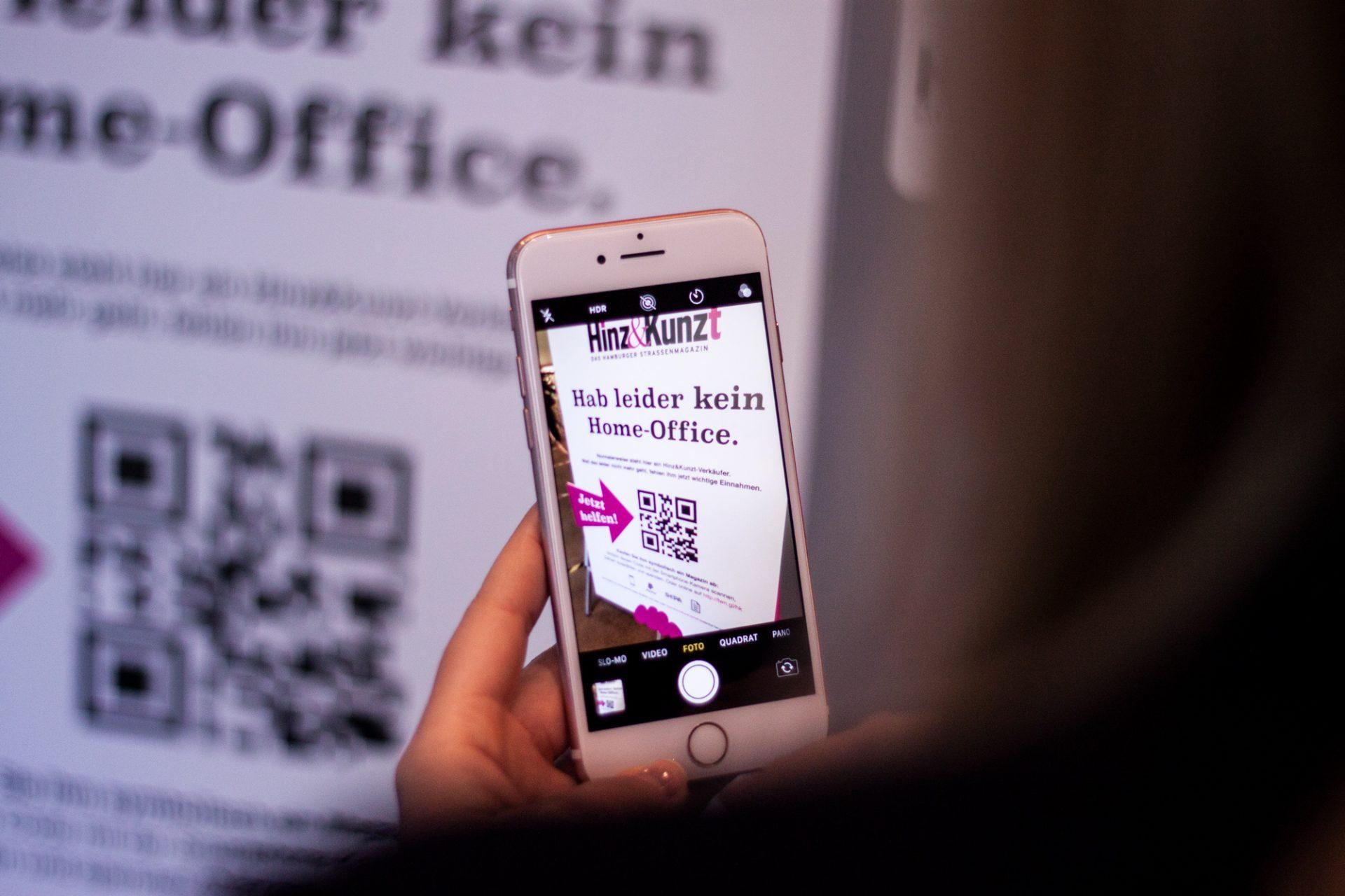 Philipp und Keuntje entwickelt kontaktlosen Hinz Kunzt Verkäufer QR Code