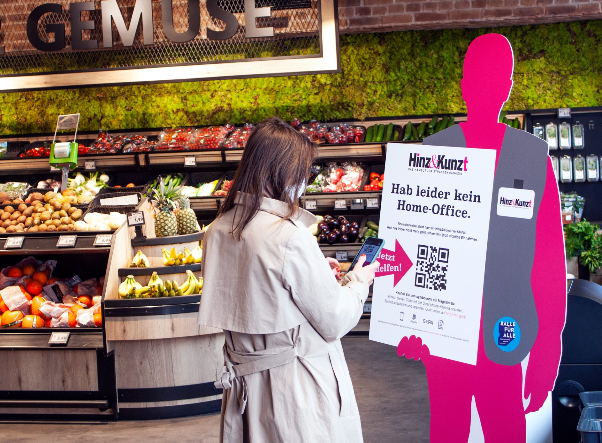 Philipp und Keuntje entwickelt kontaktlosen Hinz Kunzt Verkäufer Supermarkt