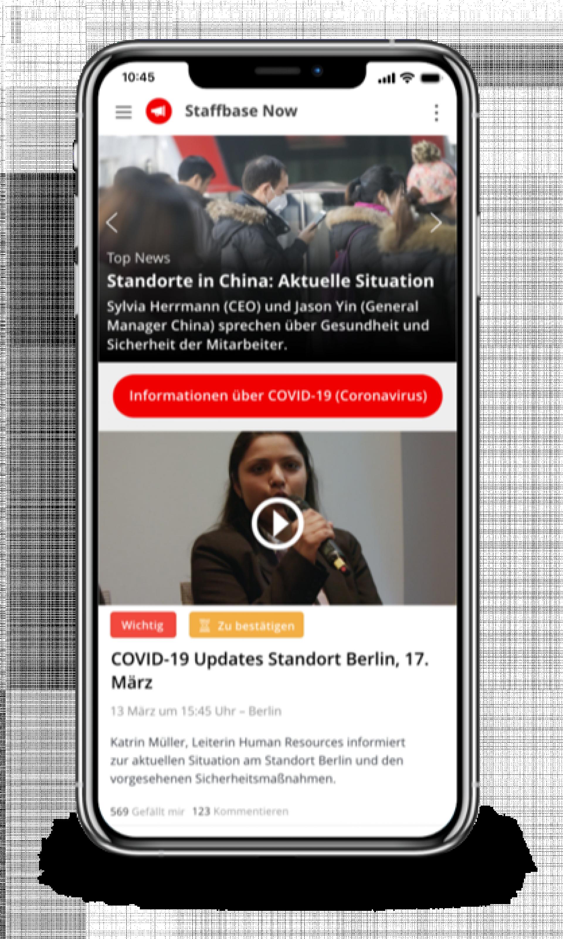 Fischer Appelt interne Kommunikation Mitarbeiter App