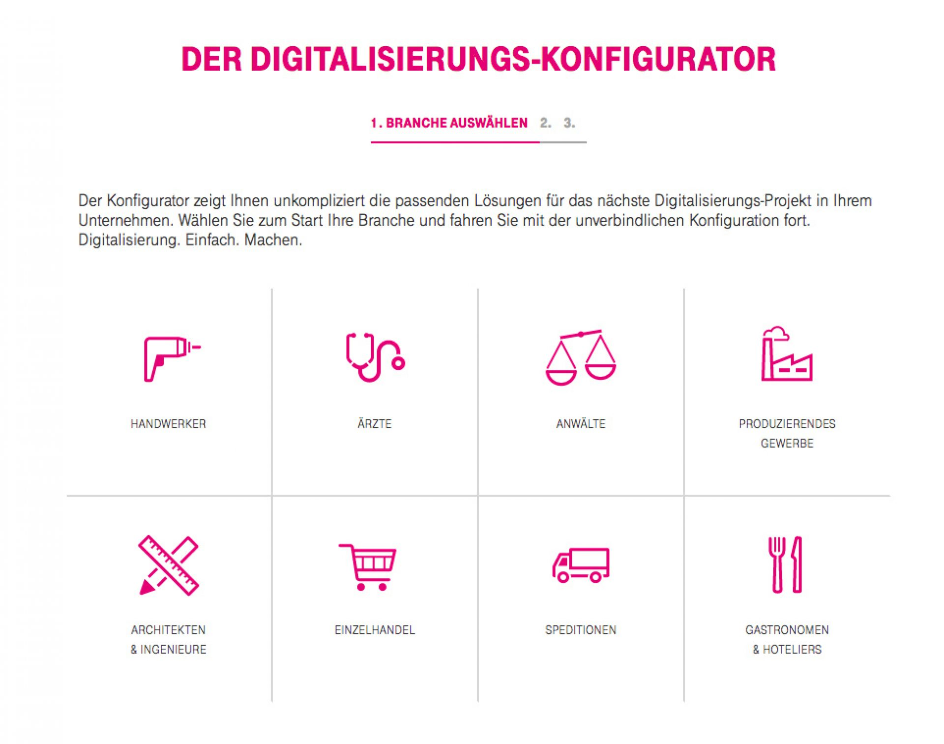 Fischer Appelt Telekom Digitalsierungs Konfigurator