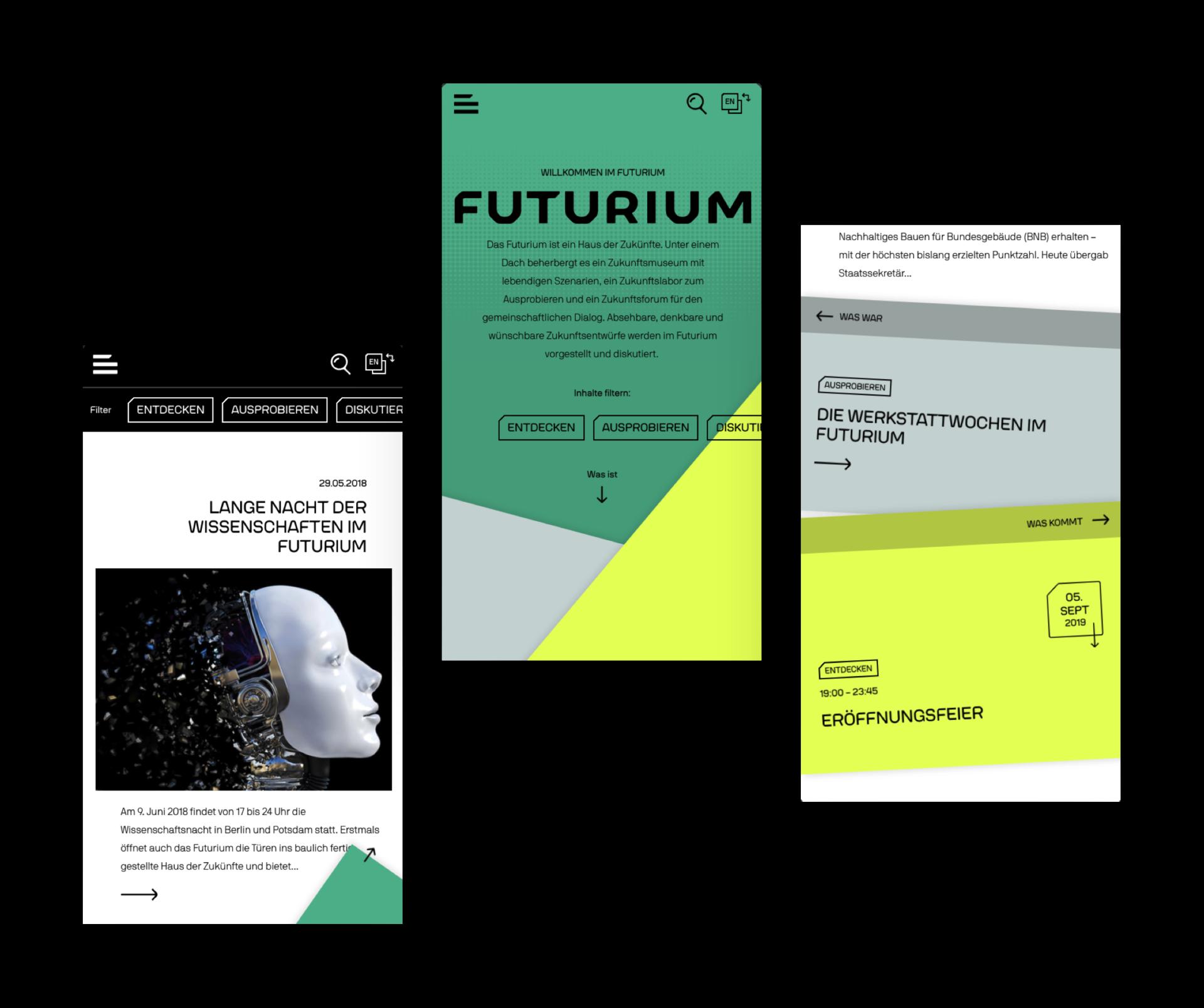Futurium Mobile Ansicht